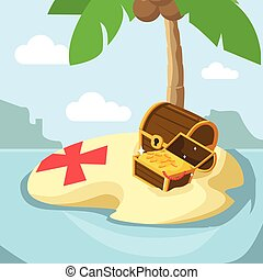 stranded island with treasure
