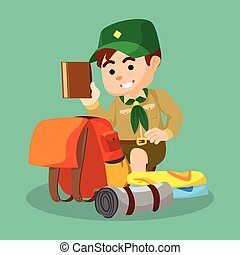 boy scout packing