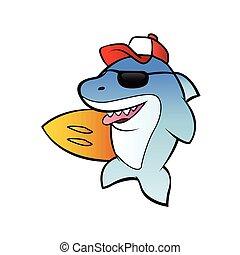 shark surfer.