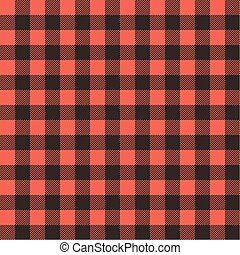 Red Black Checked Tablecloth