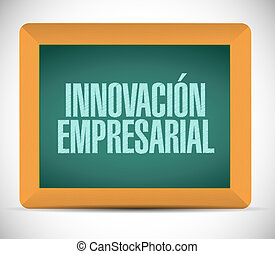 business innovation chalkboard sign in Spanish