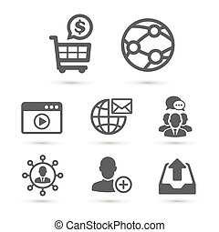 SEO and Advertising icons set 2