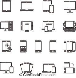 Icon set - responsive devices