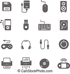 Icon set - devices accessory