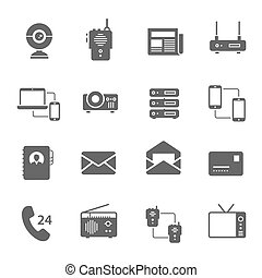 Icon set - communication devices