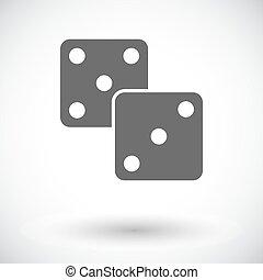 Craps flat icon - Craps. Single flat icon on white...