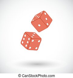 Craps flat icon - Craps. Flat vector icon for mobile and web...