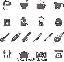 Icon set - kitchenware