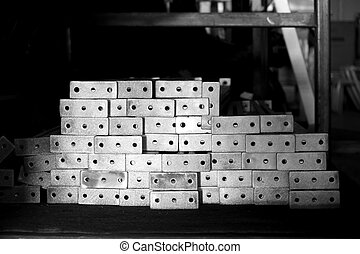 stack of casting aluminum