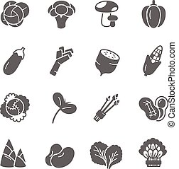 Icon set - vegetable