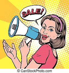 pop art illustration - sale concept