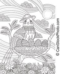 lady bird adult coloring page - adult coloring page - lady...