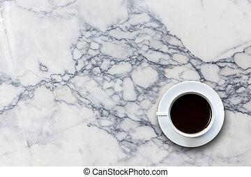piedra, taza, cima, café, Plano de fondo, tabla, blanco,...