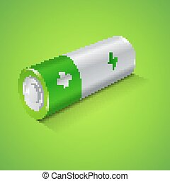 Battery Icon, Graphic Concept