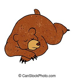sleeping bear cartoon.Vector illustration