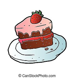 Slice Cake - Slice Of Cake.vector illustration