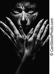 Demonic Look From Hell - Scary portrait of the woman Demon...