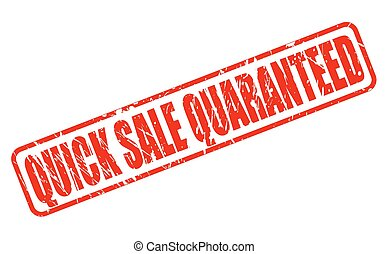 QUICK SALE QUARANTEED red stamp text