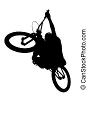mountain biker silhouette