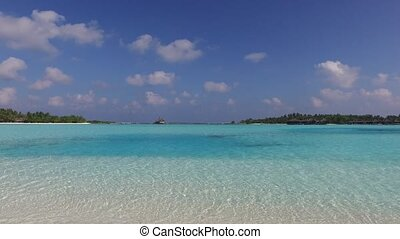 blue sea lagoon on maldives beach - travel, tourism,...