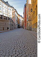 Old Town cobblestone street - Old Town cobblestone street in...
