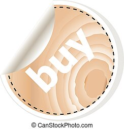 buy word on vector business wooden app icon isolated on white background.