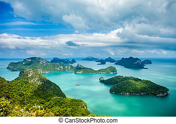 Tropical group of islands in Ang Thong National Marine Park...