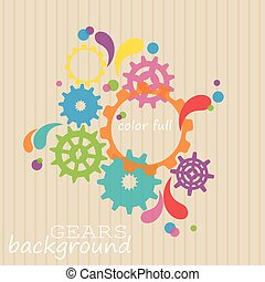 Cogwheel gear pattern background