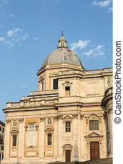 santa, basílica, plaza, Di, Italia, roma, Maggiore,...