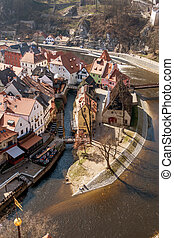 czech republic, city of cesky krumlov, bohemia - the czech...