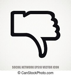 Social media vector Thumb Down icon. Modern flat design.