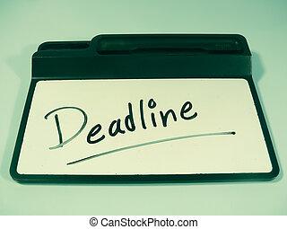 Dry Erase Board, Deadline, Concept