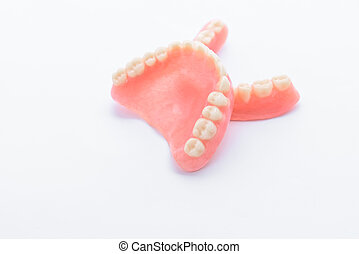 Full denture on white background