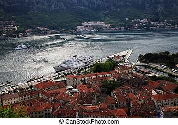 Kotor - View of the Kotor and Kotor Bay, Montenegro