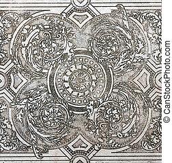 floor old tile ornamental vintage