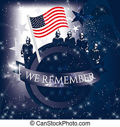 Memorial Day illustration with the lettering We Remember