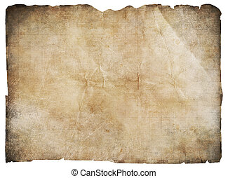 old pirates' treasure map isolated with clipping path - old...