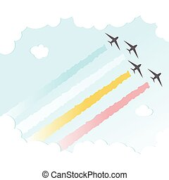 Parade Plane BackgroundJoy Peace Colourful Design Sky Vector Illustration