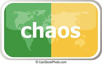 chaos Flat web button icon World map earth icon Vector...