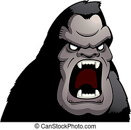 Angry Ape - A cartoon ape with an angry expression
