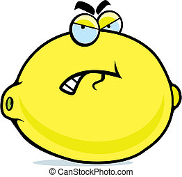 Angry Lemon - A cartoon lemon with an angry expression.
