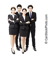 Portrait Of happy Young successful Business team