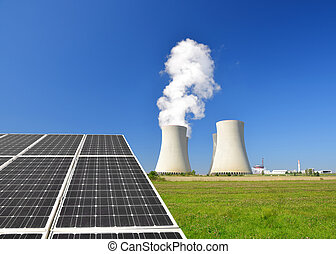 Energy concepts - Solar energy panels and nuclear power...