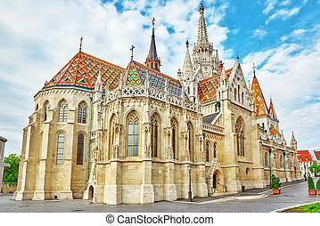 St Matthias Church in Budapest One of the main temple in...