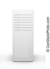 19inch Server tower - 3D rendered Illustration. Isolated on...