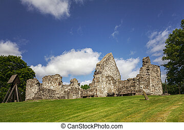 Medieval church ruin - Image of the early medieval church...