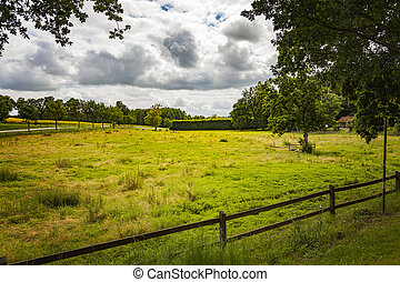 Countryside pasture field - Image of pasture fields in a...