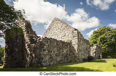Rya medieval church ruin - Image of the early medieval...
