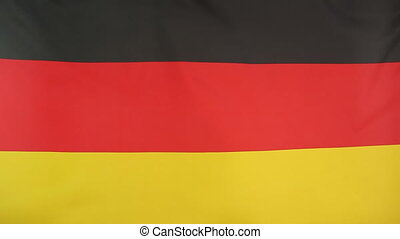 Germany flag in slow motion
