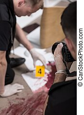 This is how crime scene investigation works - Policeman...
